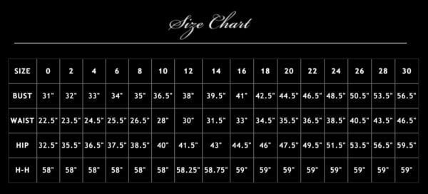 PS sizechart 600x272 - PS-8009