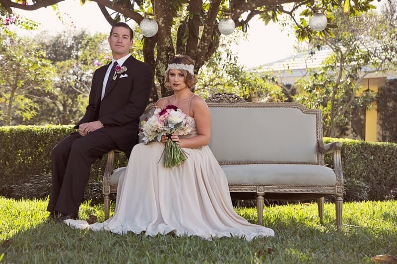 1920s Vintage Glam Wedding Inspiration 0001 - 1920's Vintage Inspired Shoot Featuring Patricia South Gowns!