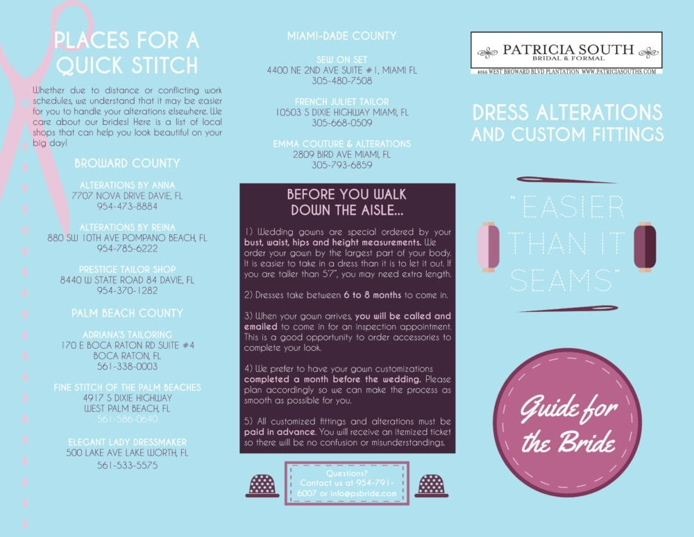 Alteration Bridal Guide