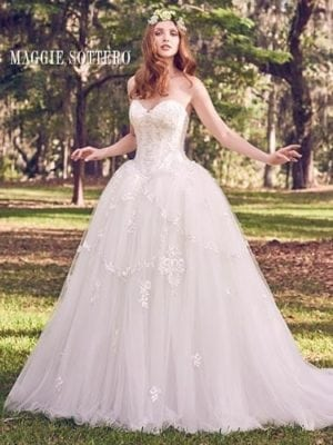 Maggie Sottero Benton Marie 8MC504MC Strapless Wedding Dress