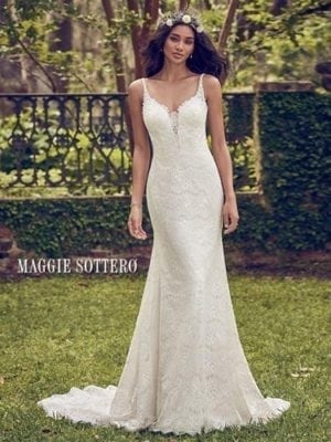 Maggie Sottero Dorian 8MS563 Sheath Wedding Dresses