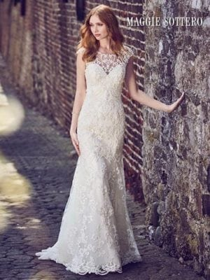 Maggie Sottero Everly 8MC537 A line Wedding Dress