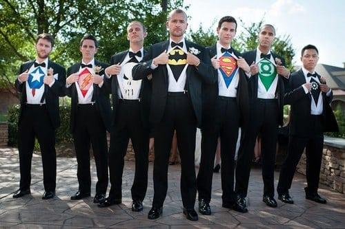groomsmen superheros
