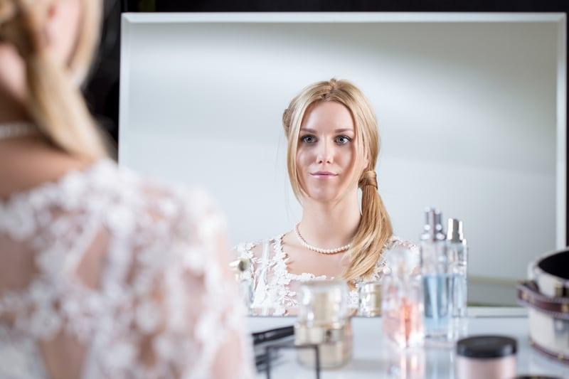 bride mirror preparing ready - Bridal Beauty Timeline: How Soon Should You Start Preparing?