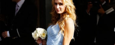 paris hilton bridesmaid1 380x150 - 18 Celebs Who Were Bridesmaids to Regular People